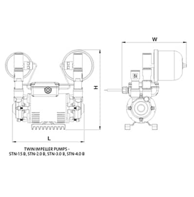 Amazon Universal Twin CAD drawing